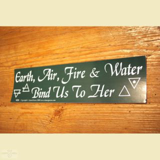 Aufkleber Earth, Air, Fire & Water Bind us to Her