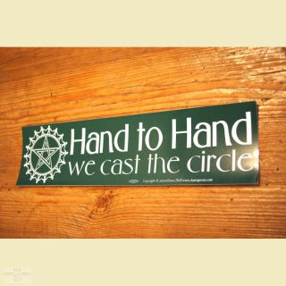 Aufkleber Hand to Hand we cast the circle