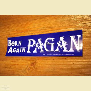 Aufkleber Born again Pagan