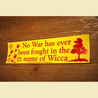 Aufkleber No War has ever been fought in the name of Wicca