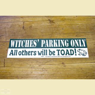 Aufkleber Witches Parking only!