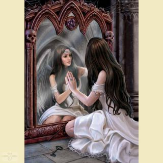 Anne Stokes Grußkarte MAGICAL MIRROR