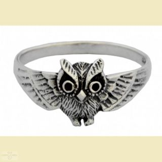 Ring Eule, Silber 925 18,5 / 58