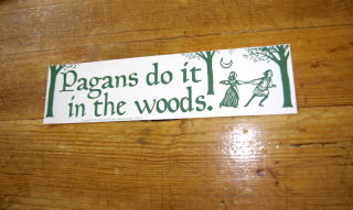 Aufkleber Pagans do it in the Woods