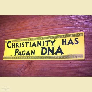 Aufkleber Christianity has Pagan DNA