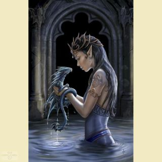 Anne Stokes Grußkarte WATER DRAGON