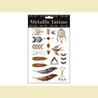 Metallic Tattoo Klebe Tattoo, Motivserie 1