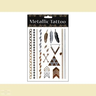 Metallic Tattoo Klebe Tattoo, Motivserie 2