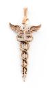 Amulett Anhänger Stab der Heilung, Bronze