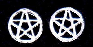 Ohrstecker Pentakel, Silber 925, 1 Paar