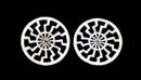 Ohrstecker Sonnenrad Sonnenkreis, Silber 925, 1 Paar