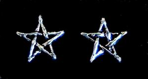 Ohrstecker Pentagramm, Silber 925, 1 Paar