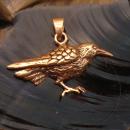 Amulett Anhänger Rabe, Bronze