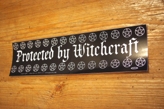 Aufkleber Protected by Witchcraft