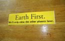 Aufkleber Earth first...