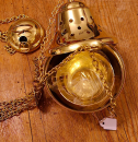 Weihrauchfass Profi, Messing mit Einsatz, Glockenförmig