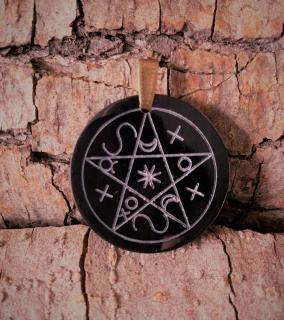 Amulett Anhänger Pentagramm der Schatten