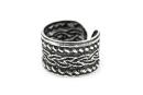 Ohrklemme, Bartperle  Keltischer Knoten, Silber 925