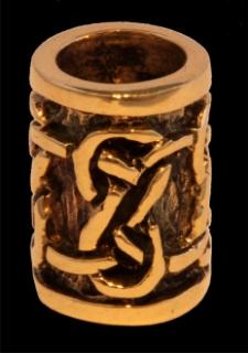 Bartperle und Lockenperle Keltische Knoten, Bronze