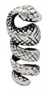 Bartperle und Lockenperle Schlange, Silber 925