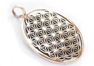 Amulett Anhänger Blume des Lebens, groß, Bronze