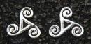 Ohrstecker Celtic Triskel, Silber 925, 1 Paar