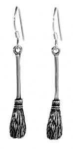 Ohrhänger Hexenbesen, 1 Paar, Silber 925