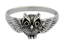 Ring Eule, Silber 925