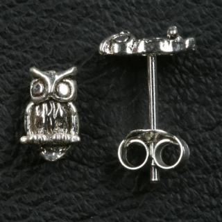 Ohrstecker Eule, Silber 925, 1 Paar