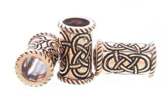Bartperle und Lockenperle Keltische Knoten lang, Bronze, 1 Stck.