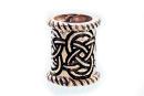 Bartperle und Lockenperle Keltische Knoten 2, Bronze