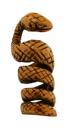Bartperle und Lockenperle Schlange, Bronze
