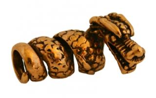Bartperle und Lockenperle Drache, Bronze