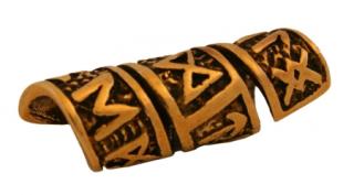 Bartperle und Lockenperle Runen, Bronze