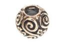 Bartperle und Lockenperle Spiralen, Bronze