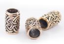 Bartperle und Lockenperle Schleifen, Bronze