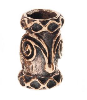 Bartperle und Lockenperle Doppelspirale, Bronze