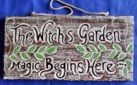 The Witchs Garden - Schild für den Hexengarten