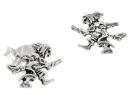 Ohrstecker Hexe, Silber 925, 1 Paar