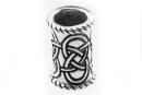 Bartperle und Lockenperle Keltische Knoten lang, Silber 925