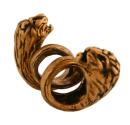 Bartperle und Lockenperle Löwe, Bronze