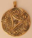 Amulett Anhänger Großes Triskel DANU, Bronze