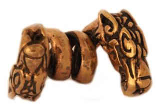 Bartperle und Lockenperle Drache 2, Bronze