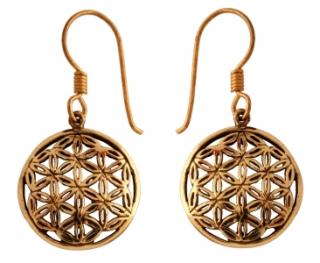 Ohrhänger Blume des Lebens, 1 Paar, Bronze