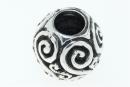 Bartperle und Lockenperle Spiralen, Silber 925