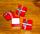 Geschenkbox rot Silberschleife, klein