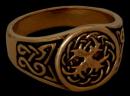 Siegelring Weltenesche Celtic, Bronze