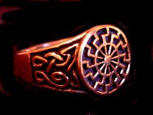 Siegelring Sonnenrad Sonnenkreis, Bronze