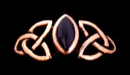 Ring Fili mit Onyx, Bronze