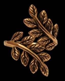 Ring Blätter der Yggdrasil, Bronze